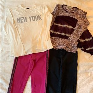 Girls Size 10 Shirts and Pants Bundle